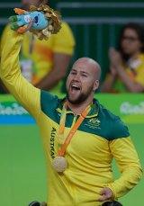 Ryley Batt celebrates gold.