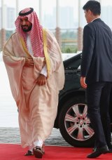 Saudi Arabia's Deputy Crown Prince Mohammed bin Salman in Hangzhou, China,  for the G20 summit.