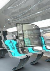 Future by Airbus: Morphing seats can harvest a passenger's body heat to power aircraft systems such as holographic pop-up pods.