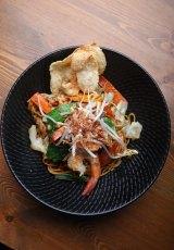 Mee goreng with prawns at Yuni's Kitchen, Northcote.