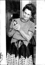Mary Crean, wife of the treasurer Frank Crean, in 1973.