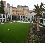 Parliament House garden designed on top and around the new building.