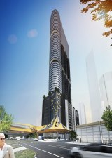 The Sol Invictus tower has been designed to capture the sun's movement from east to west.