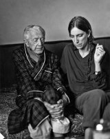 Patti Smith with composer Paul Bowles in Tangier, Morocco, in 1997.