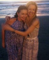 Schapelle Corby with the co-author of her memoir, Kathryn Bonella.