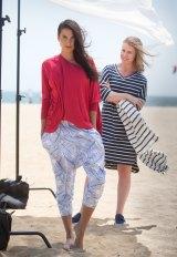 Melbourne's Julia Van Der Sommen with model Shoona Staines in 50+ ultraviolet-protected clothes.