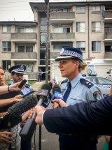 Police spokeswoman Superintendent Leanne McCusker addresses the media on Monday.