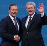 Tony Abbott got along famously with his Canadian counterpart Stephen Harper.