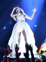 Australia's Dami Im performs 'Sound Of Silence' at the Eurovision Song Contest final.