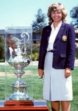Lesleigh Green and the America's Cup.