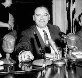 US Senator Joseph McCarthy in 1954.