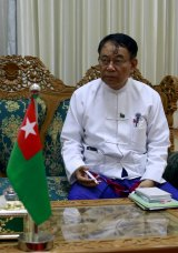 The ruling Union Solidarity and Development Party's secretary general, Maung Maung Thein, who has also been removed from his post.