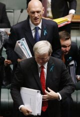 Kevin Rudd and Peter Garrett during happier times.