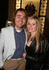 Celebrity chef Shannon Bennett with actor wife Madeleine West.