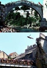 Bosnia's Ottoman-era Old Bridge was demolished in 1993.