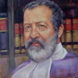 An oil painting of Judge Robert Toner by artist Angelika Erbsland.