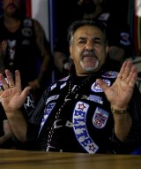 Alex Vella, president of the Rebels outlaw motorcycle gang, who has been barred from re-entering Australia since June 2014 when he went to Malta.