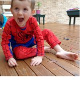 William Tyrrell in his favourite Spider-Man suit.