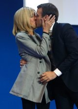 A romantic moment on the campaign trail in April this year.