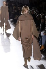 Strategically positioned cutouts turned Rick Owens' catwalk show into a below-the-belt game of peek-a-boo.