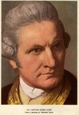 Nathaniel Dance's portrat of Captain James Cook.