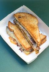 The Wild Turkey toasted sandwich at Zuppa.
