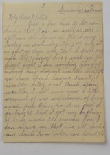 Victor Offe's letter to his sister Mollie details the horrors of the Battle of Fromelles.