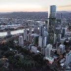 Artist impression of Skytower Brisbane at 222 Margaret St, Brisbane.