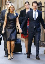 Roxy Jacenko often wore elegant black to her husband's trial.