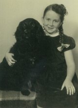 A scar remains: Liz Byrski aged six in 1950.