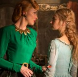 Lily James is Cinderella and Cate Blanchett is the wicked stepmother in this year's Disney version of the classic tale.