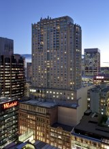 Leader: Swissotel Sydney was one of the first be built on top of a shopping mall.