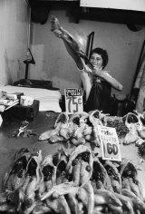 Rabbit skinner, Victoria Market, c.1970.