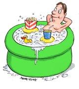 Hot tub cinema ... BYO rubber duck.