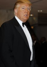 Donald Trump arrives for the White House Correspondents' Association Dinner on April 30, 2011.