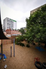 The Queensberry Children's Centre's playground.