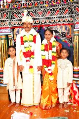 Ganesh and Ranjini with Ranjini's older two sons at their 2011 wedding.