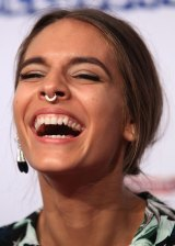 Actor and activist Caitlin Stasey rocking a septum ring at the Logies.