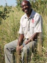 Lennox Mathebula, who educates locals on the rhino's importance.