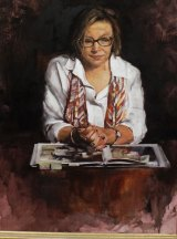 Rosie Batty by Fiona Bilbrough at the Hidden Faces exhibition at the Hilton Melbourne in South Wharf.