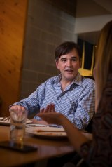 Lunch with comedian Tim Ferguson.