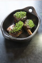 The entree of beef ribs at the Robert Burns Hotel.