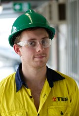 Apprentice Chevy Greenaway is learning something new every day.