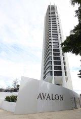 The Avalon apartments on the Gold Coast.