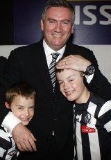 Eddie McGuire with sons Alexander (left) and Joe in 2010.