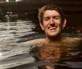 Matt Stewart takes a dip in the Yarra