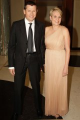 Tanya Plibersek with her husband Michael Coutts-Trotter at the Mid Winter Ball in Parliament House in 2013.