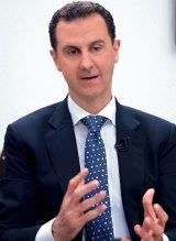 Syria's President Bashar al-Assad speaks with the Hong Kong-based Phoenix TV station.