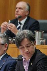 Labor senator Penny Wong cautioned colleagues against detailing suicide methods in public.