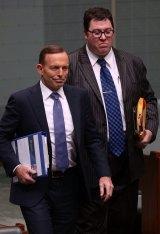 Tony Abbott with George Christensen.